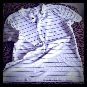 ABERCROMBIE striped shirt muscle L